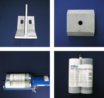 Beam Hold Down Brackets Beam Hold Own Plates Silicon Seal Gun Two-Part Silicone Seal, Class 7